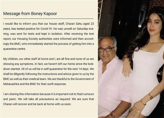 Boney Kapoor's house-help tests positive for COVID-19! Producer issues statement!
