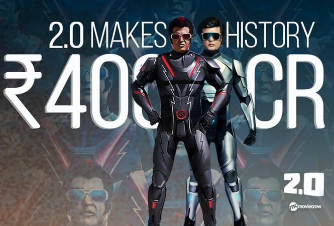 Box Office: 2.0 creates history, Rajinikanth's film grosses Rs. 400 cr worldwide in 4 days