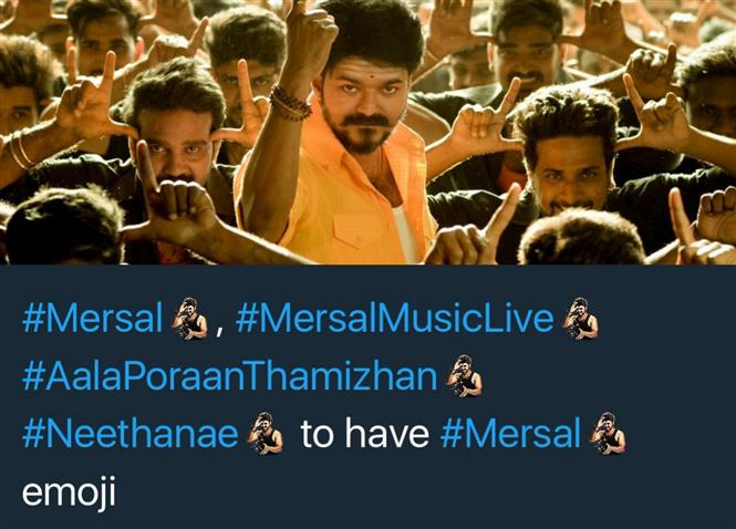 Breaking: Mersal becomes the first Tamil film to get a Twitter emoji