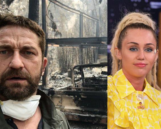 Californian Wildfire 2018: Gerard Butler, Miley Cy...