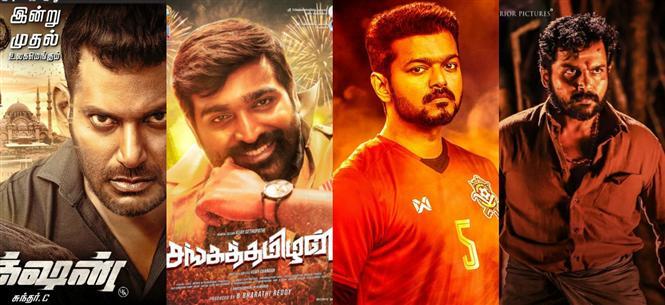 Chennai Box Office: Action, Sanga Thamizhan lead at the top; Bigil all set to beat Viswasam record!
