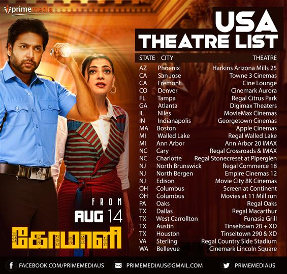 Comali USA Theatre List