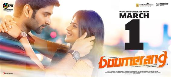 Competition for Atharvaa's Boomerang on March 1, 2...