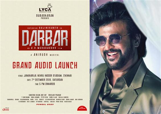 Darbar Audio Launch Date gets confirmed!