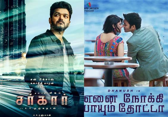 Dhanush's ENPT to clash with Vijay's Sarkar for Diwali