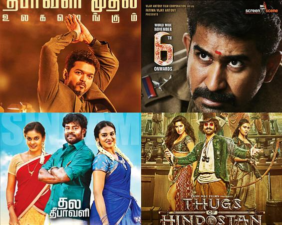 Diwali 2018 Film Releases: Sarkar, Thimiru Pudichavan, Billa Pandi & Thugs of Hindostan gear up for a BO clash!