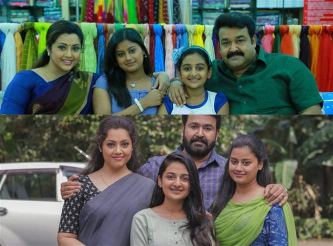 Drishyam 2 director shares BTS images with Mohanlal, Meena!
