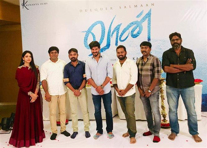 Dulquer Salmaan's Vaan begins with a pooja!