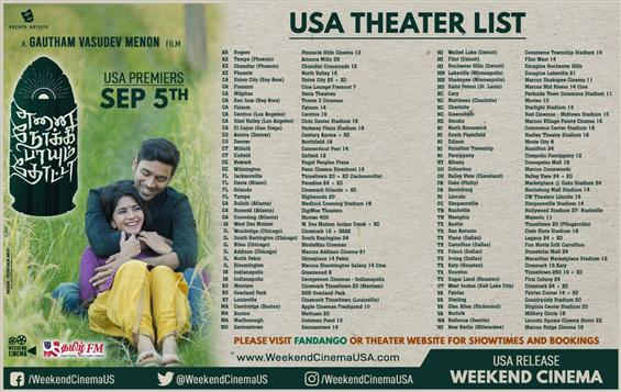 Enai Nokki Paayum Thotta USA Theater list - Showtimes