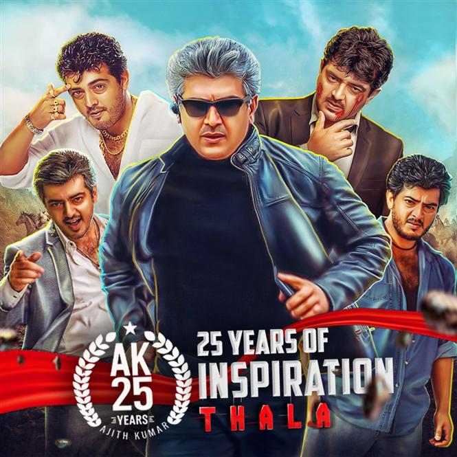 Film Industry wishes Ajith Kumar on 25 years Tamil Movie