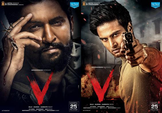 First Look of Nani, Sudeer Babu from 'V' movie is out