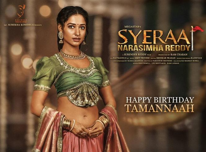 First Look of Tamannaah Bhatia in Sye Raa Narasimha Reddy