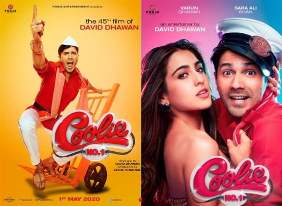 First Look Posters of Varun Dhawan's Coolie No 1