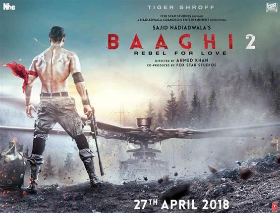 First Poster of Tiger Shroff starrer 'Baaghi 2'