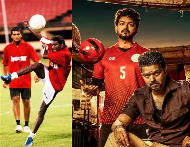 Former Indian Football Team Captain in Vijay's Bigil!