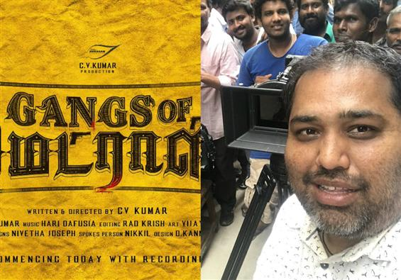 Gangs of Madras: Shooting begins for C.V. Kumar's ...