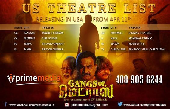 Gangs of Madras USA Theater list