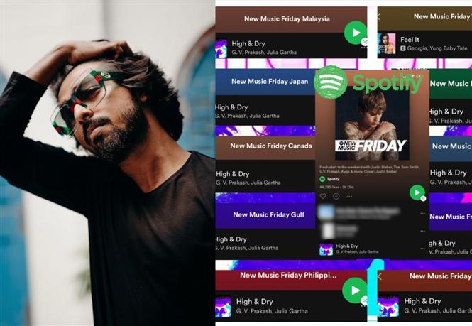 G.V. Prakash's High & Dry single trends on international music playlists!