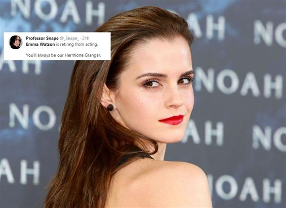 Has Emma Watson really quit acting? Here's what we...