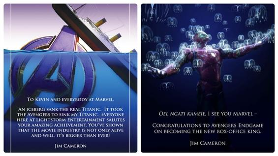 Here is how James Cameron responds to Avengers End...