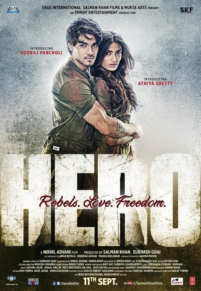 hero new poster hindi movie music reviews and news