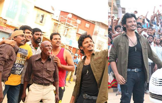 Huge set erected for Jiiva's Gorilla in Chennai, F...