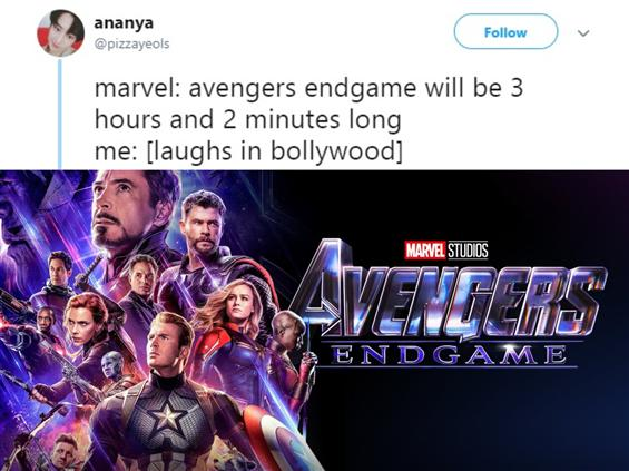 Indians make light of Avengers: End Game Run Time ...