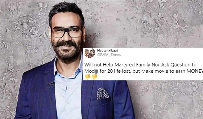 Indians not pleased with Ajay Devgn's movie announcement on Galwan Valley clash!