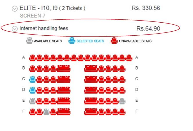 Internet charges for Movie Tickets to be reduced substantially!