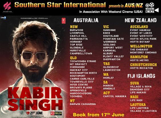 Kabir Singh Australia, New Zealand, Fiji Theatre L...