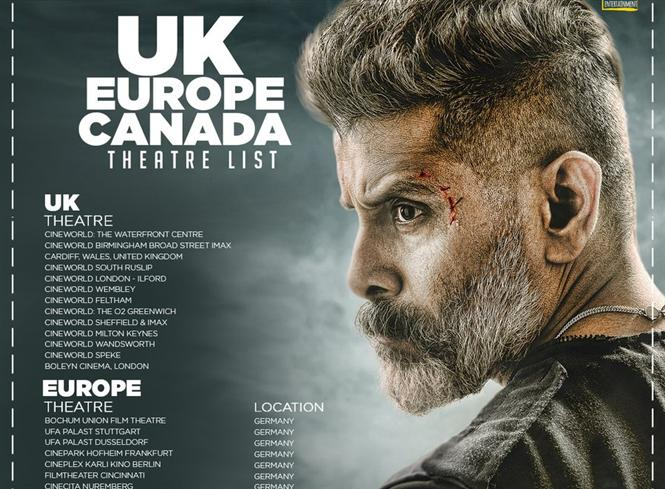 Kadaram Kondan UK, Europe and Canada Theatre List