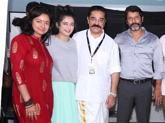 Kamal Haasan's film with Vikram, Akshara Haasan begins shooting!
