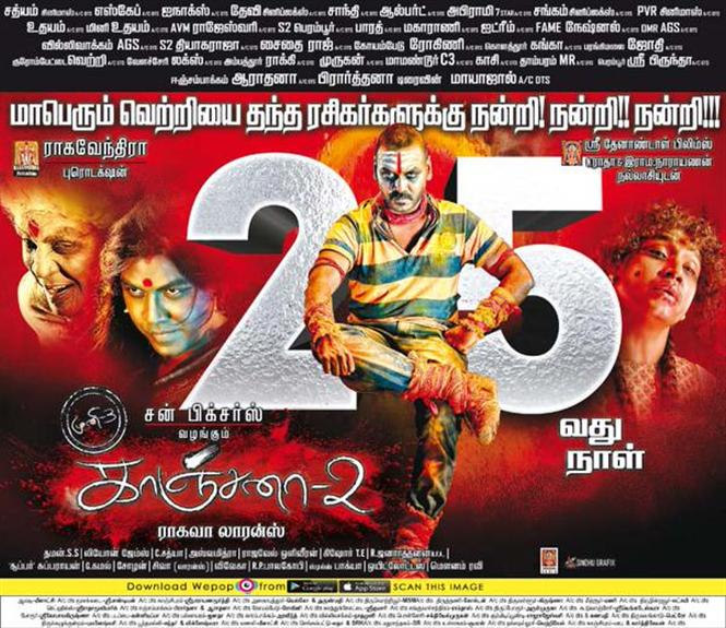 Kanchana 2 completes 25 days Tamil Movie, Music Reviews and News