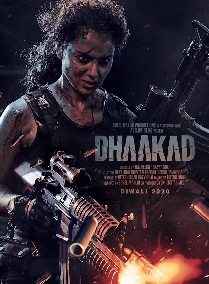 Kangana Ranaut looks fierce and intense in Dhaakad first look poster
