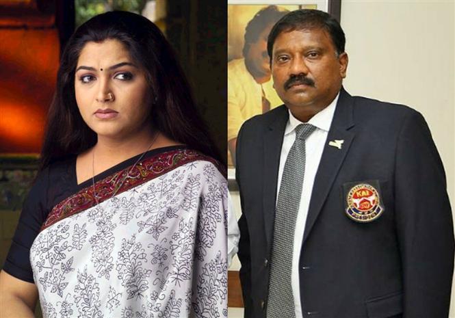 Karate Thiyagarajan attacks Kushboo, Actress to file complaint!