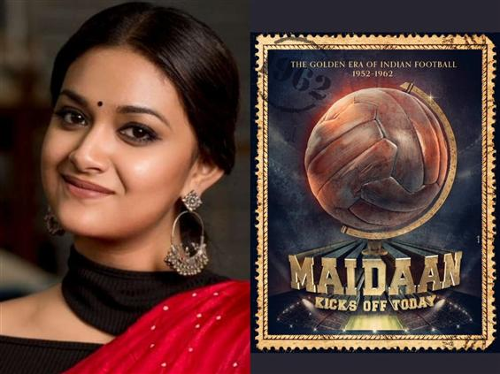 Keerthy Suresh's Bollywood debut titled Maidan!