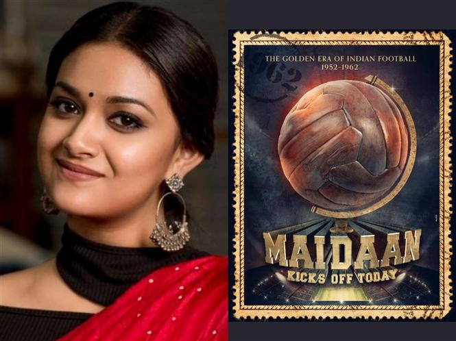 Keerthy Suresh's Bollywood debut titled Maidan!