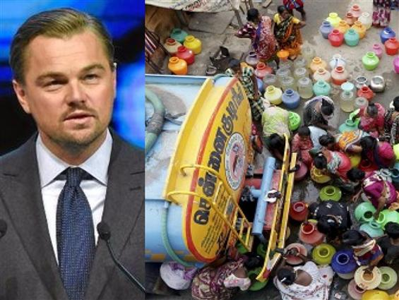 Leonardo Dicaprio concerned about Chennai's Water ...