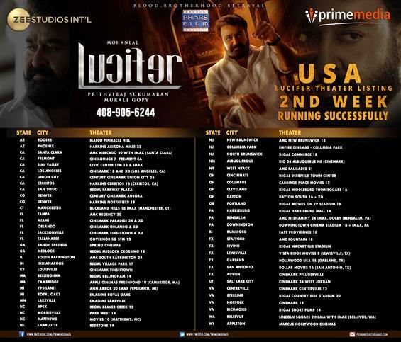 Lucifer USA - 2nd Week Showtimes