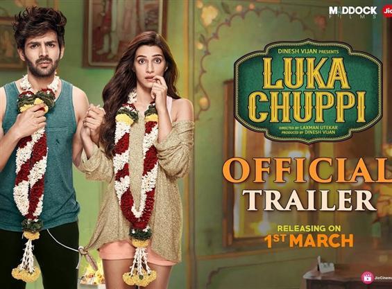 Luka Chuppi trailer feat. Kartik Aaryan & Kriti Sa...