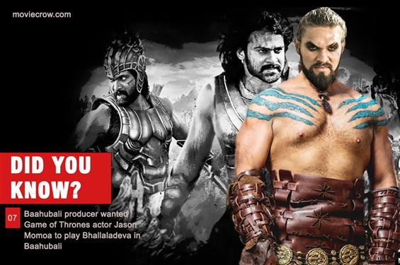 MC: Did You Know 07 - Baahubali producer wanted Jason Momoa to play Bhallaladeva!