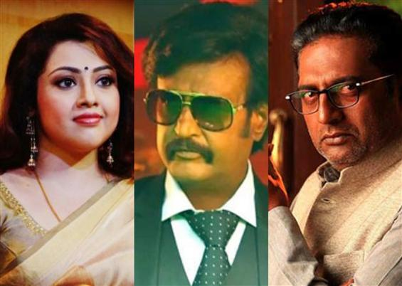 Meena, Prakash Raj reunite with Rajinikanth in Tha...
