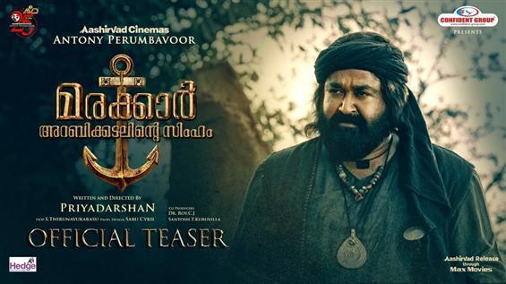 Mohanlal's Marakkar Arabikadalinte Simham Official Teaser