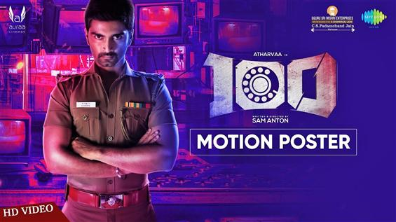 Motion Poster out for 100 The Movie starring Atharvaa, Hansika