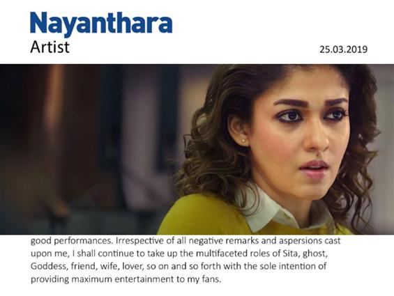 News Image - Nayanthara hits back at 'chauvinist' Radha Ravi! Says will continue to play Goddess & Ghost! image