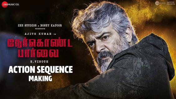 Nerkonda Paarvai Action Sequence Making: Video of Ajith Behind The Scenes Out