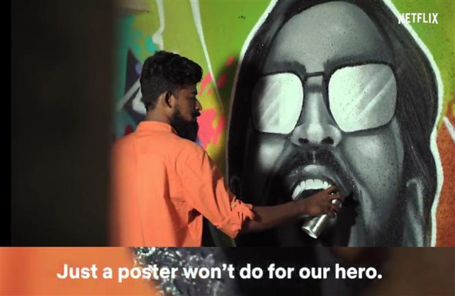 Netflix unveils Dhanush graffiti before Jagame Thandhiram Trailer!