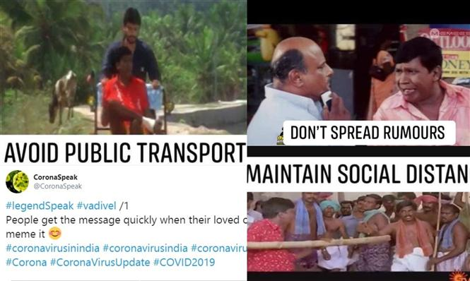 Netizens Use Vadivelu For Corona Virus Awareness It Kills 2