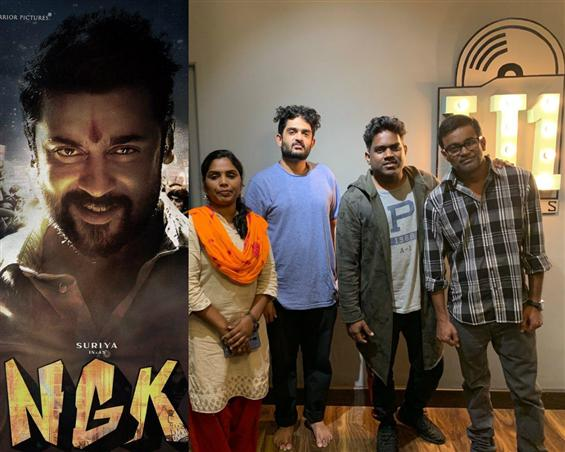 NGK: Selvaraghavan, Yuvan Shankar Raja record a song for the Suriya starrer!