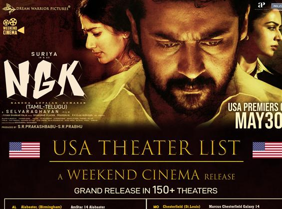 NGK USA Theater List